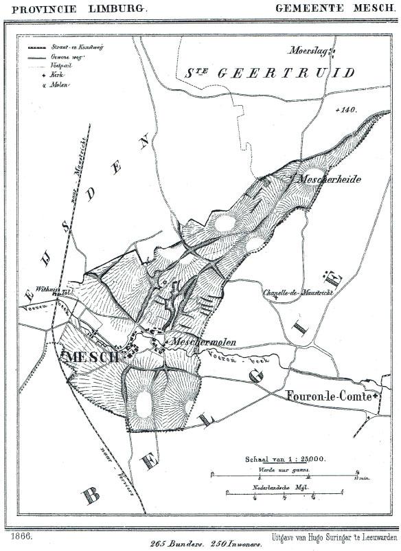 Kaart uit 1866. Klik voor groter formaat